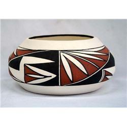 Acoma Hand Painted Pottery Jar by Dorothy Torivio