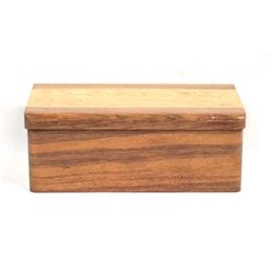 Hand Crafted Wooden Lidded & Hinged Box.