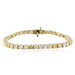 14KT Yellow Gold 7.26 ctw Diamond Tennis Bracelet