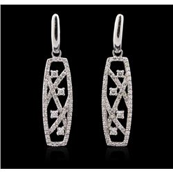 14KT White Gold 1.09 ctw Diamond Earrings