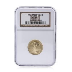 1996-W $10 American Gold Eagle 1/4 oz Gold Coin NGC MS69