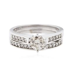 14KT White Gold 0.71 ctw Diamond Wedding Ring Set