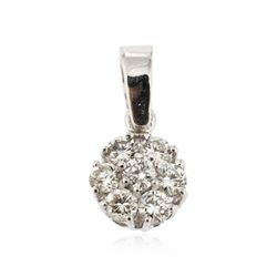 14KT White Gold 0.41 ctw Diamond Pendant