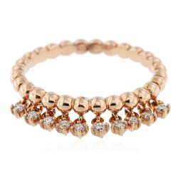 14KT Rose Gold 0.17 ctw Diamond Ring