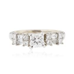 18KT White Gold 1.10 ctw Diamond Ring