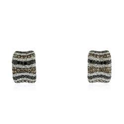 18KT White Gold 2.58 ctw Diamond Earrings