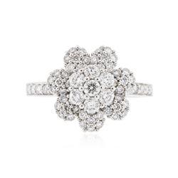 18KT White Gold 0.86 ctw Diamond Ring