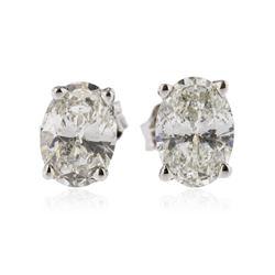 14KT White Gold 1.07 ctw Diamond Stud Earrings