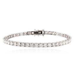 18KT White Gold 10.31 ctw Diamond Tennis Bracelet