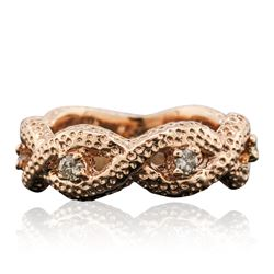14KT Rose Gold 0.25 ctw Diamond Ring