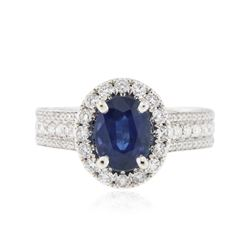 18KT White Gold 1.57 ctw Sapphire and Diamond Ring