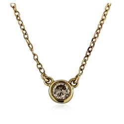 14KT Yellow Gold 0.15 ctw Diamond Necklace