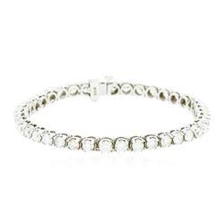 14KT White Gold 6.85 ctw Diamond Bracelet