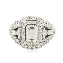 14KT White Gold EGL USA Certified 2.92 ctw Diamond Ring