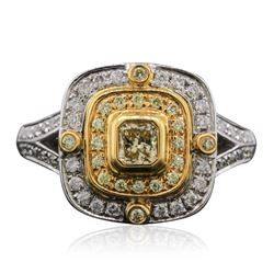 14KT Two-Tone Gold 0.78 ctw Diamond Ring