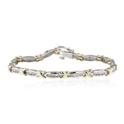 14KT Two-Tone Gold 0.50 ctw Diamond Bracelet