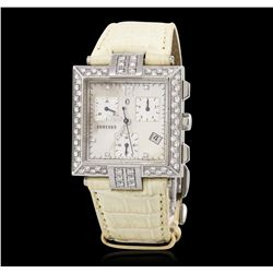 Concord La Scala Stainless Steel 1.12 ctw Diamond Wristwatch