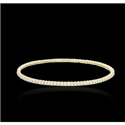 14KT Yellow Gold 2.70 ctw Diamond Bangle Bracelet