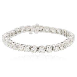 14KT White Gold 7.03 ctw Diamond Tennis  Bracelet