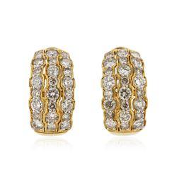 18KT Yellow Gold 2.77 ctw Diamond Earrings