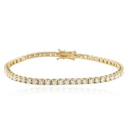 18KT Yellow Gold 6.21 ctw Diamond Tennis Bracelet