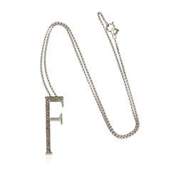 14KT White Gold 0.15 ctw Diamond Pendant With Chain