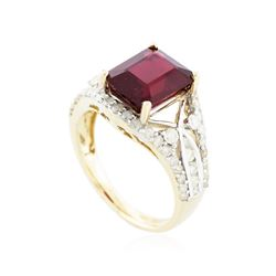 14KT Yellow Gold 5.05 ctw Ruby and Diamond Ring