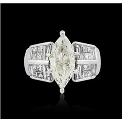 14KT White Gold 3.57 ctw Diamond Ring