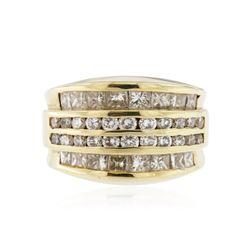 14KT Yellow Gold 3.64 ctw Diamond Ring