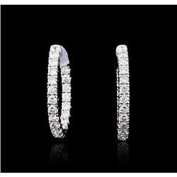 14KT White Gold 2.40 ctw Diamond Earrings