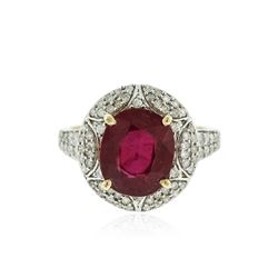 14KT Yellow Gold 5.17 ctw Ruby and Diamond Ring