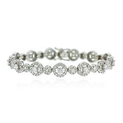 14KT White Gold 4.56 ctw Diamond Bracelet