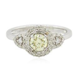 14KT White Gold GIA Certified 0.88 ctw Diamond Ring