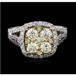 14KT Two-Tone Gold 1.64 ctw Diamond Ring