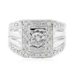 14KT White Gold 0.68 ctw Diamond Engagement Ring