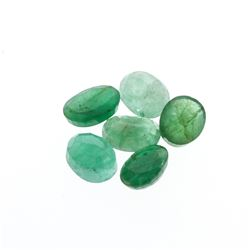 7.51 cts. Oval Cut Natural Emerald Parcel