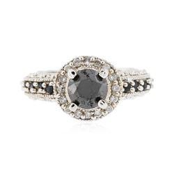 14KT White Gold 1.35 ctw Black Diamond Ring