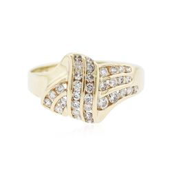 14KT Yellow Gold 0.35 ctw Diamond Ring