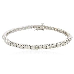 14KT White Gold 4.81 ctw Diamond Bracelet