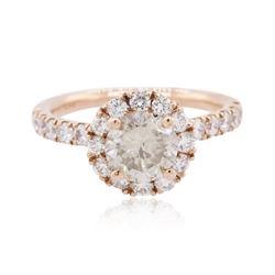 14KT Rose Gold 1.74 ctw Diamond Ring
