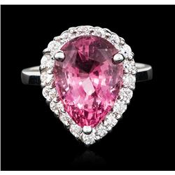 14KT White Gold 7.56 ctw Pink Spinel and Diamond Ring