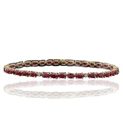 14KT Yellow Gold 7.70 ctw Ruby and Diamond Bracelet