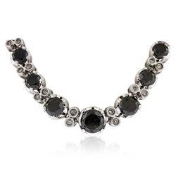 14KT White Gold 32.12 ctw Black Diamond Necklace
