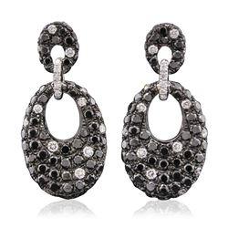 14KT White Gold 0.34 ctw Diamond Earrings