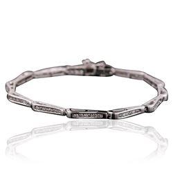 14KT White Gold 0.50 ctw Diamond Bracelet