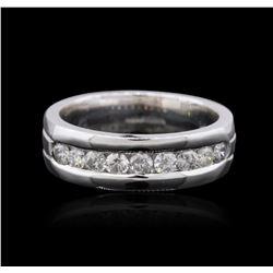 14KT White Gold 0.89 ctw Diamond Ring
