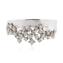 14KT White Gold 0.38 ctw Diamond Ring