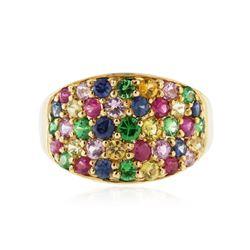 10KT Yellow Gold 2.46 ctw Multi Gemstone Ring