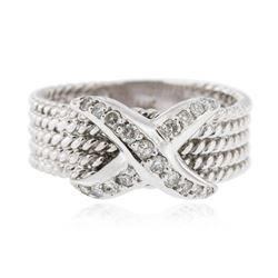 14KT White Gold 0.18 ctw Diamond Ring