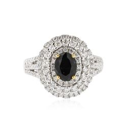 18KT White Gold 1.51 ctw Alexandrite and Diamond Ring